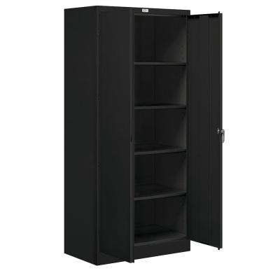 36 in. W x 78 in. H x 18 in. D Standard Storage Cabinet Unassembled in Black