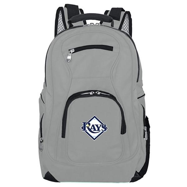 Mojo MLB Tampa Bay Rays 19 in. Gray Laptop Backpack MLTBL704_GRAY