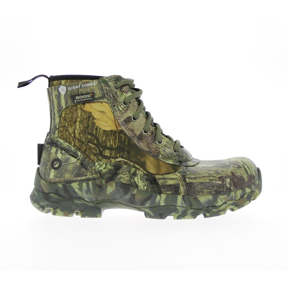 High Range Hiker Camo Men 8 in. Size 10 Mossy Oak Waterproof Rubber Hunting Boot