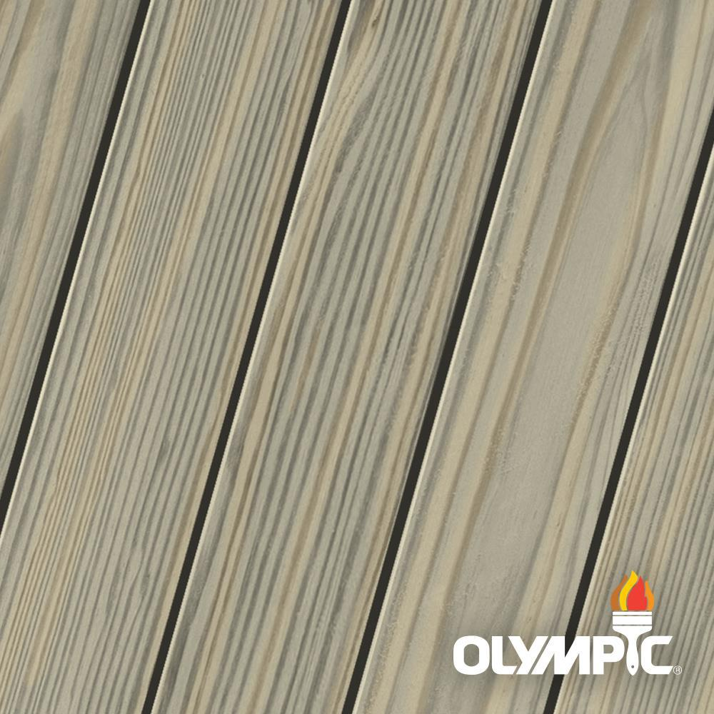 Olympic Elite 3 Gal. Dark Ash Semi-Solid Exterior Wood Stain and Sealant in One