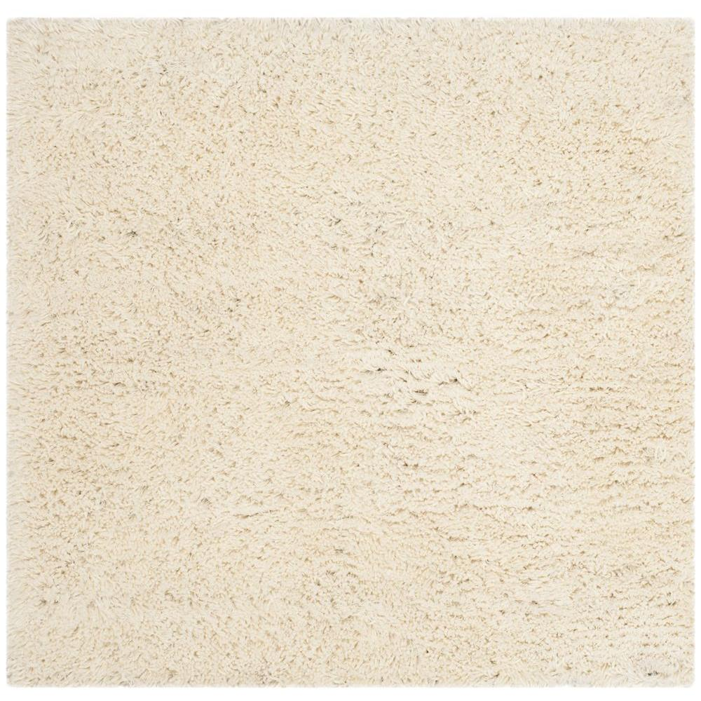 Safavieh Classic Shag White 8 ft. x 8 ft. Square Area Rug