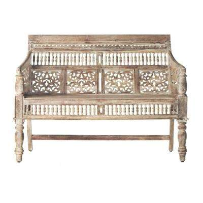 Maharaja Sandblasted White Bench