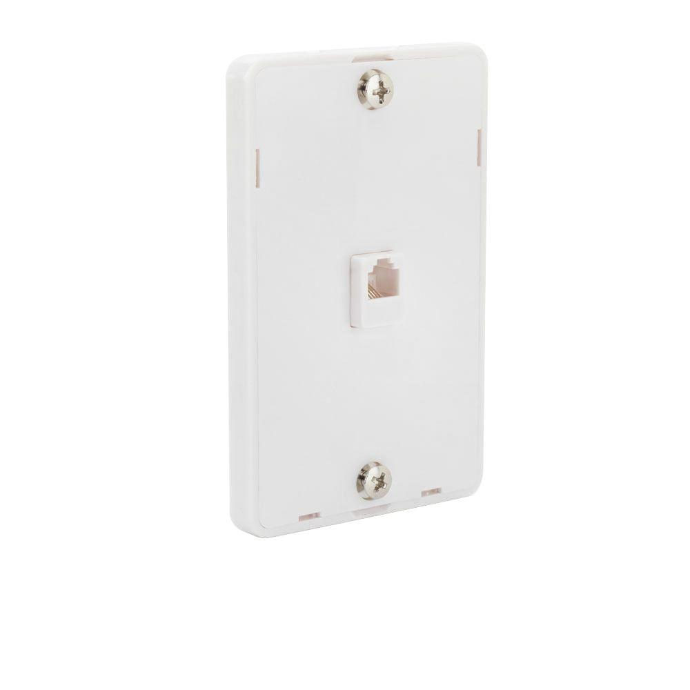 Phone Data Wall Plates The Home Depot Standard Telephone Cable Wiring 1 Line