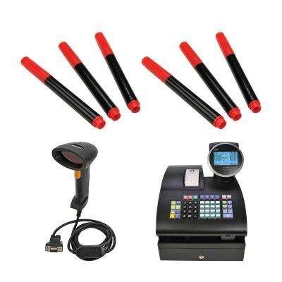 Alpha 1100ML Cash Register with PS700-LSR Scanner and BD3 Counterfeit Detector Pens