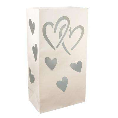 Luminaria Bags - Hearts (24-Count)