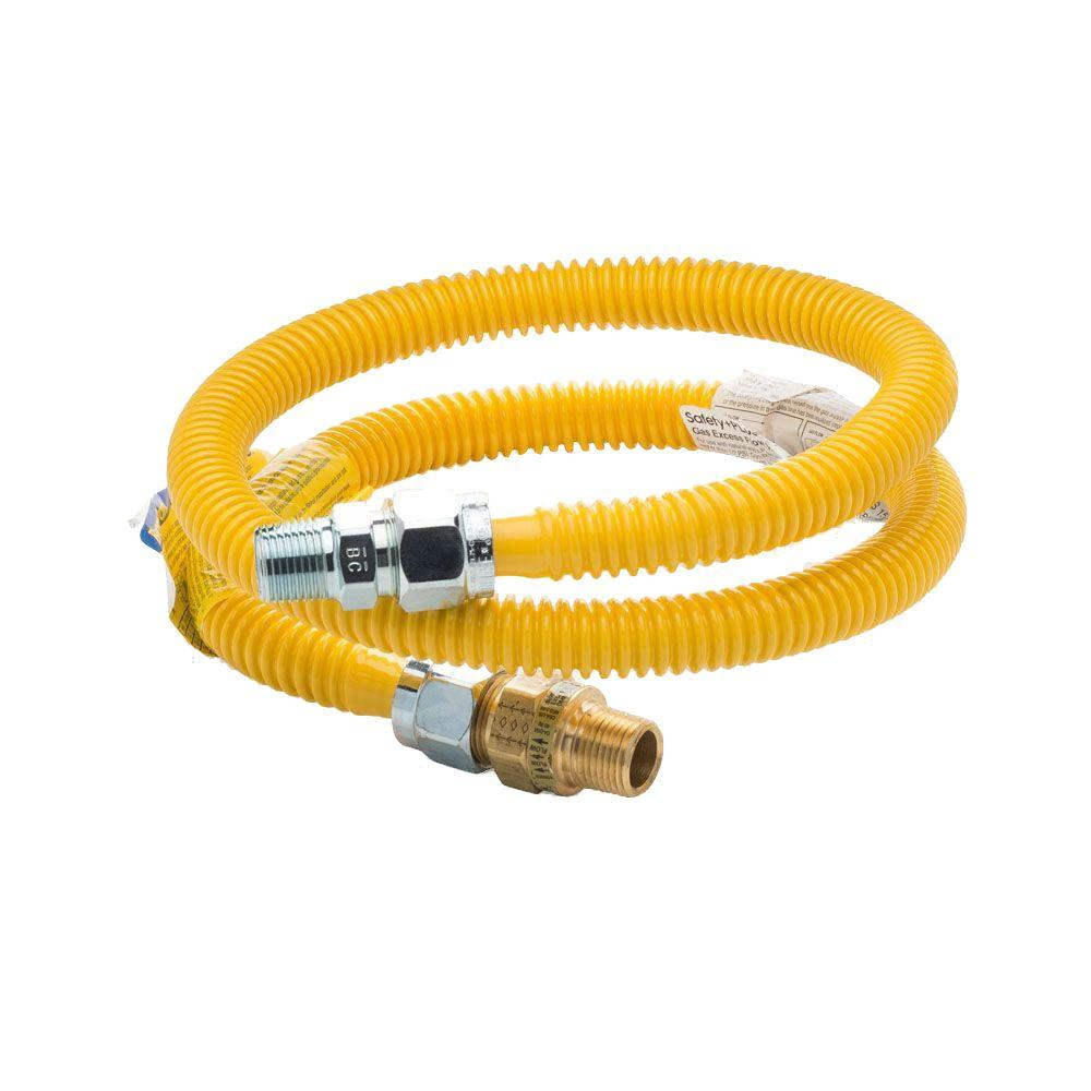 4 ft. 5/8 in. ProCoat Safety PLUS Gas Connector 1/2 MIP