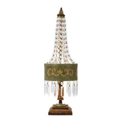 25 in. 1-Light Amber Eiffel Lamp