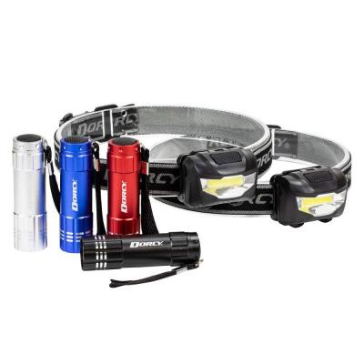 LED Flashlight/Headlight, Assorted Colors (6-Pack)