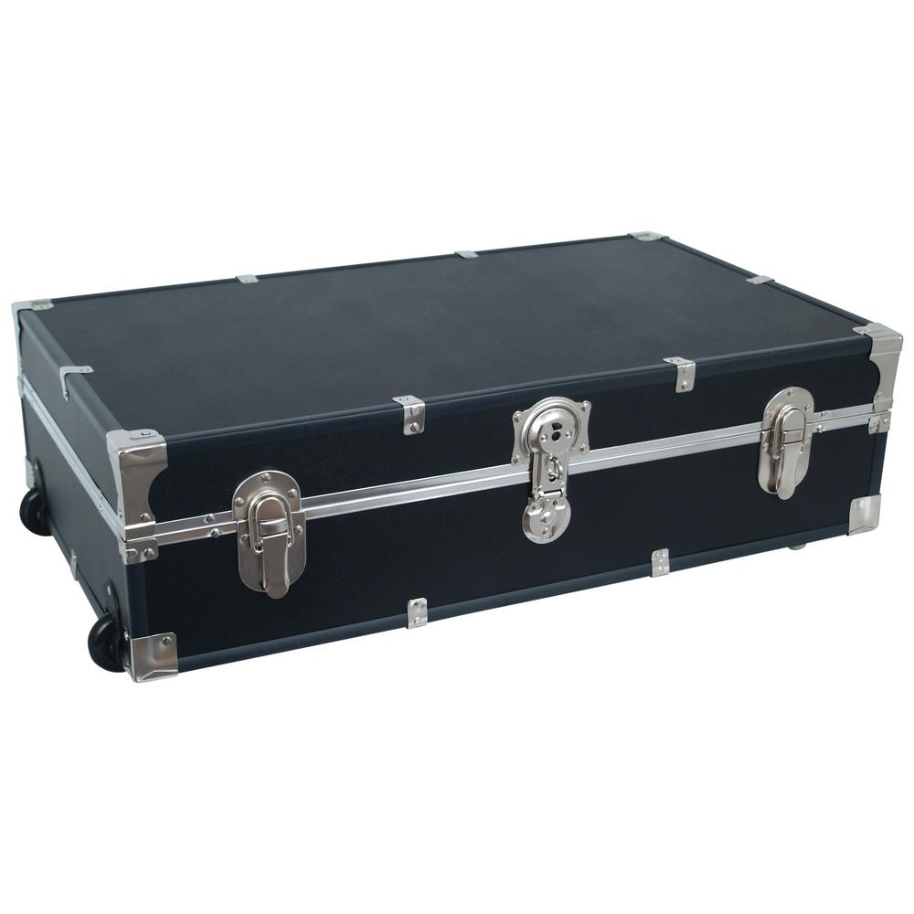 Seward Trunk Under The Bed Footlocker Black Storage