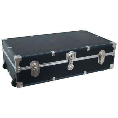 Under the Bed Footlocker Black Storage Trunk
