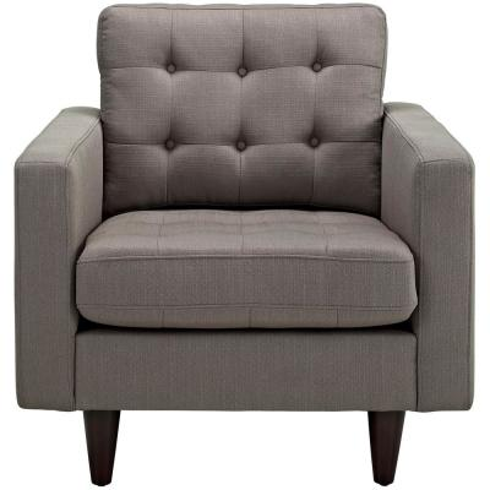 Empress Upholstered Armchair in Granite