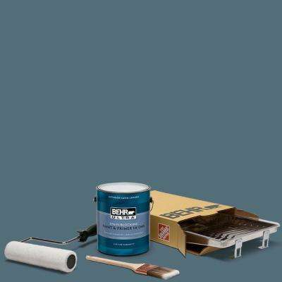 1 gal. #N480-6 NYPD Ultra Satin Enamel Interior Paint and 5-Piece Wooster Set All-in-One Project Kit