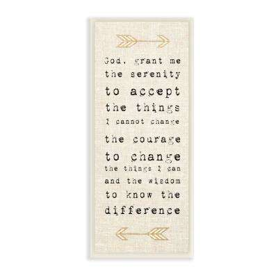 "7 in. x 17 in. ""Grant Me the Serenity Courage Wisdom Arrows"" by Daphne Polselli Wood Wall Art"
