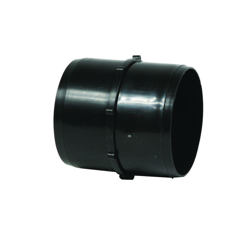 3 in. Black ABS RV Internal Hose Coupler