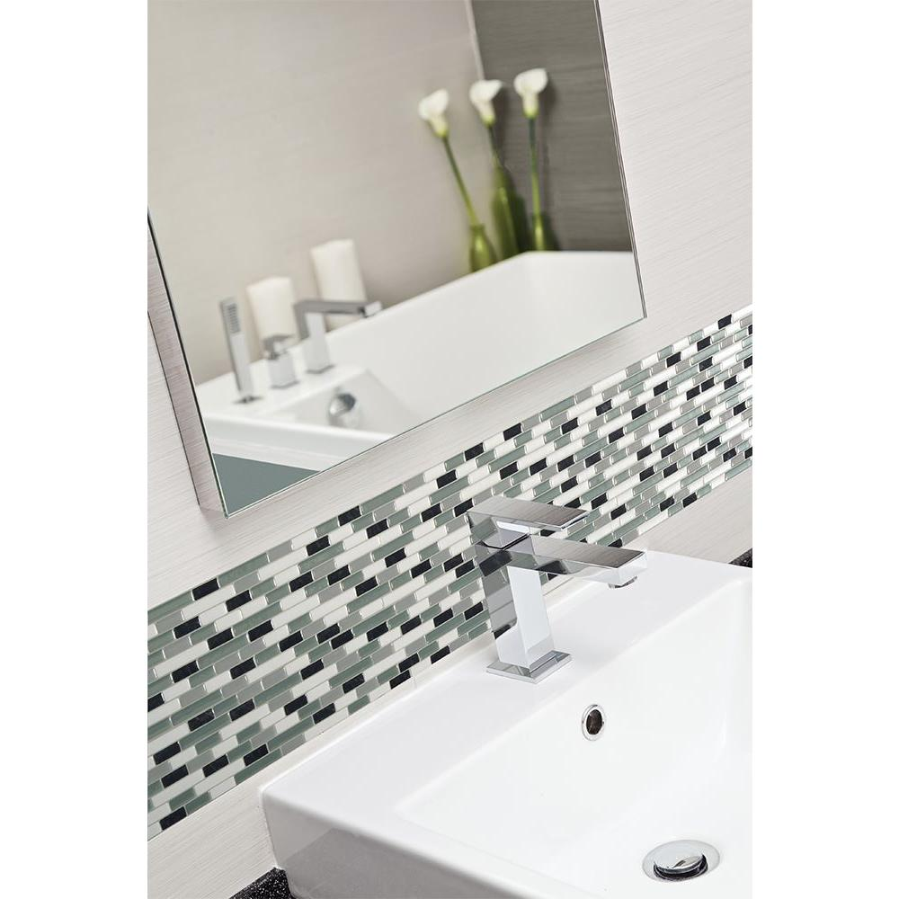 Smart Tiles Muretto Prairies Grey 10.25 in. x 9.125 in. Mosaic Peel ...