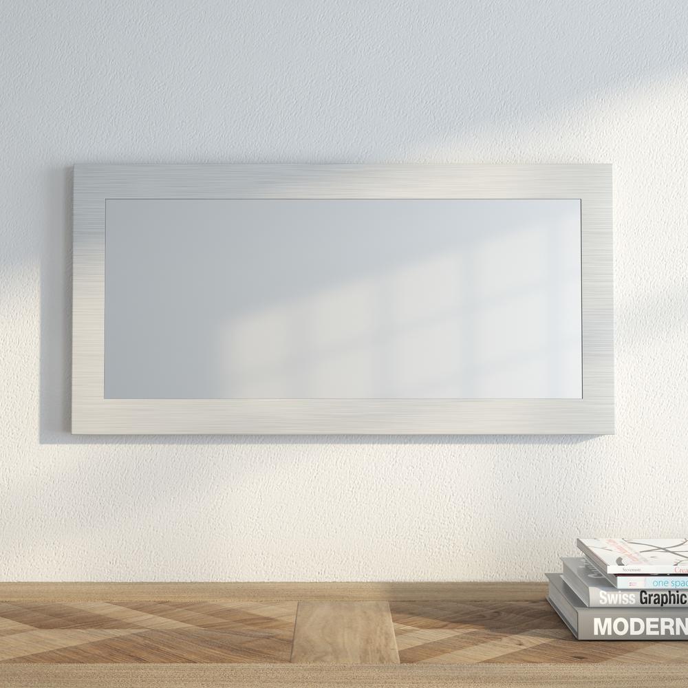 Muro 9 3/4 in. x 23 3/4 in. Modern Framed Mirror