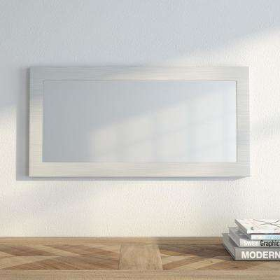 Muro 9 3/4 in. x 23 3/4 in. Modern Framed Mirror