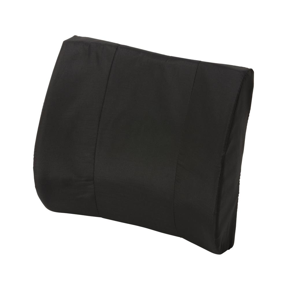 null Duro-Med Standard Lumbar Cushion with Strap in Black