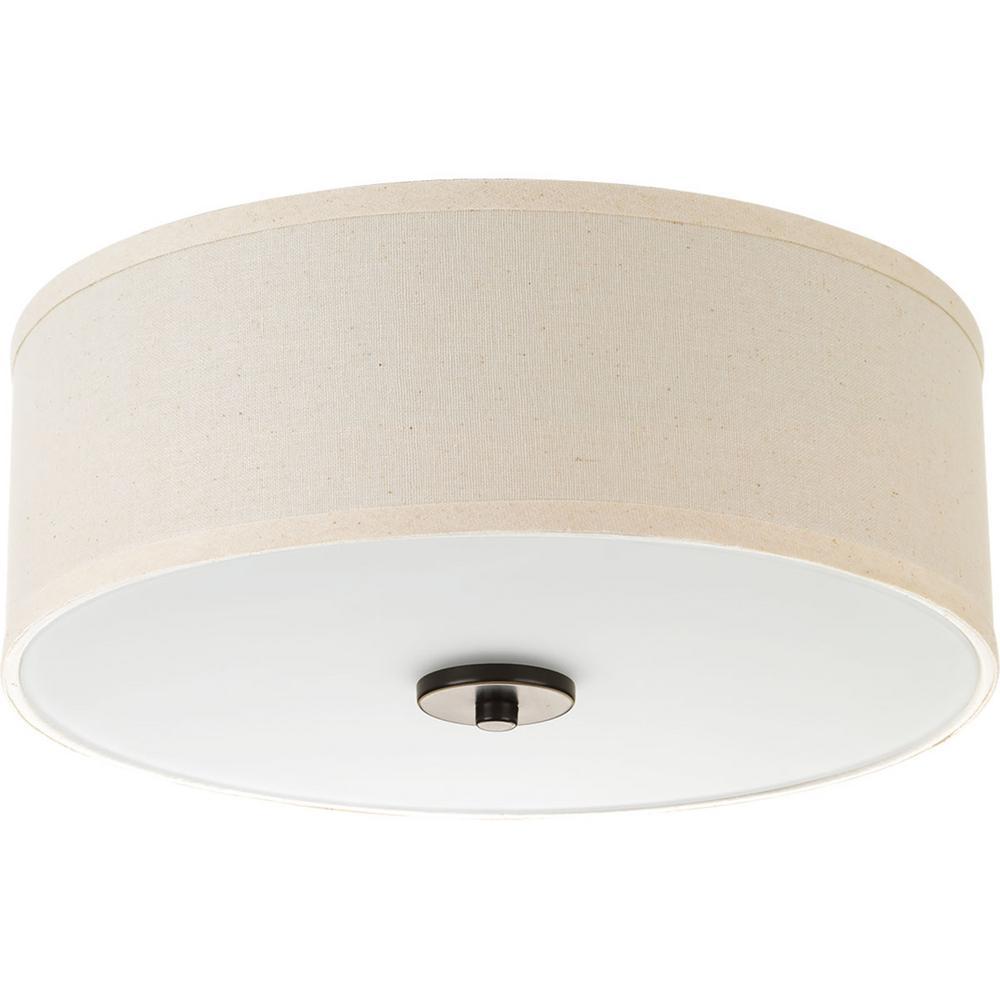 Inspire Collection 17 -Watt Antique Bronze Integrated LED Flushmount
