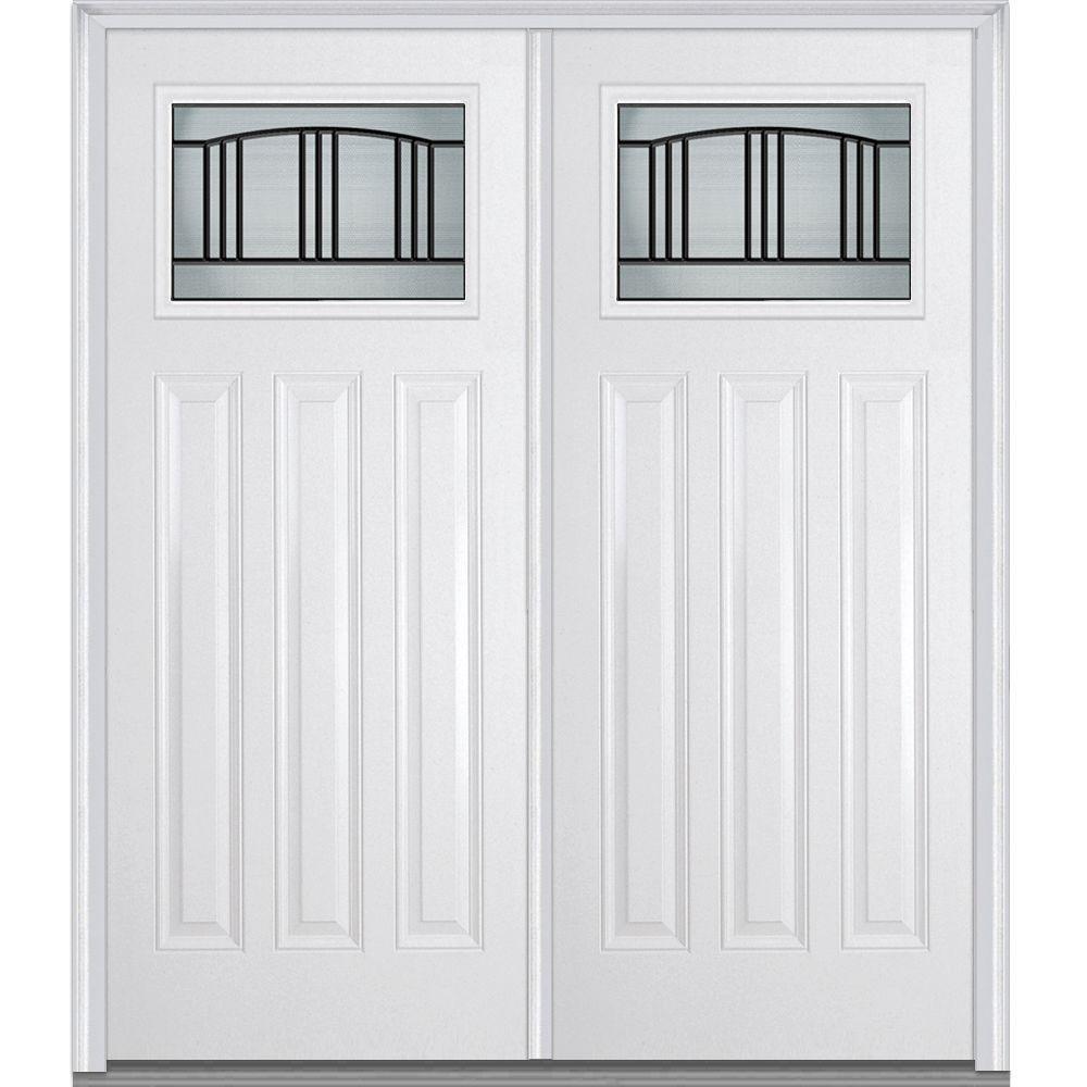 Mmi door 72 in x 80 in madison left hand craftsman 1 4 for 72 x 80 exterior door