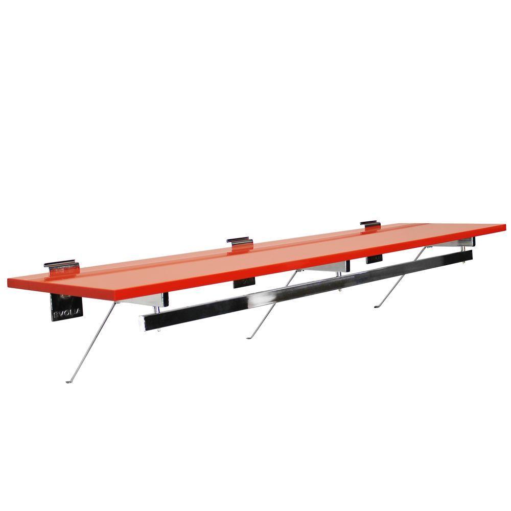 Evolia 48 in. Hang Rod with Melamine Shelf in Orange