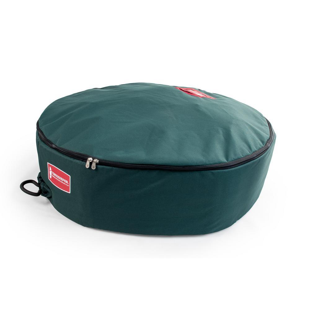 30 in. Green Foam Lined Wreath Storage Bag