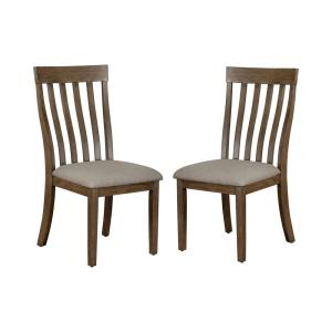Fayola Light Oak and Taupe Side Chairs (Set of 2)
