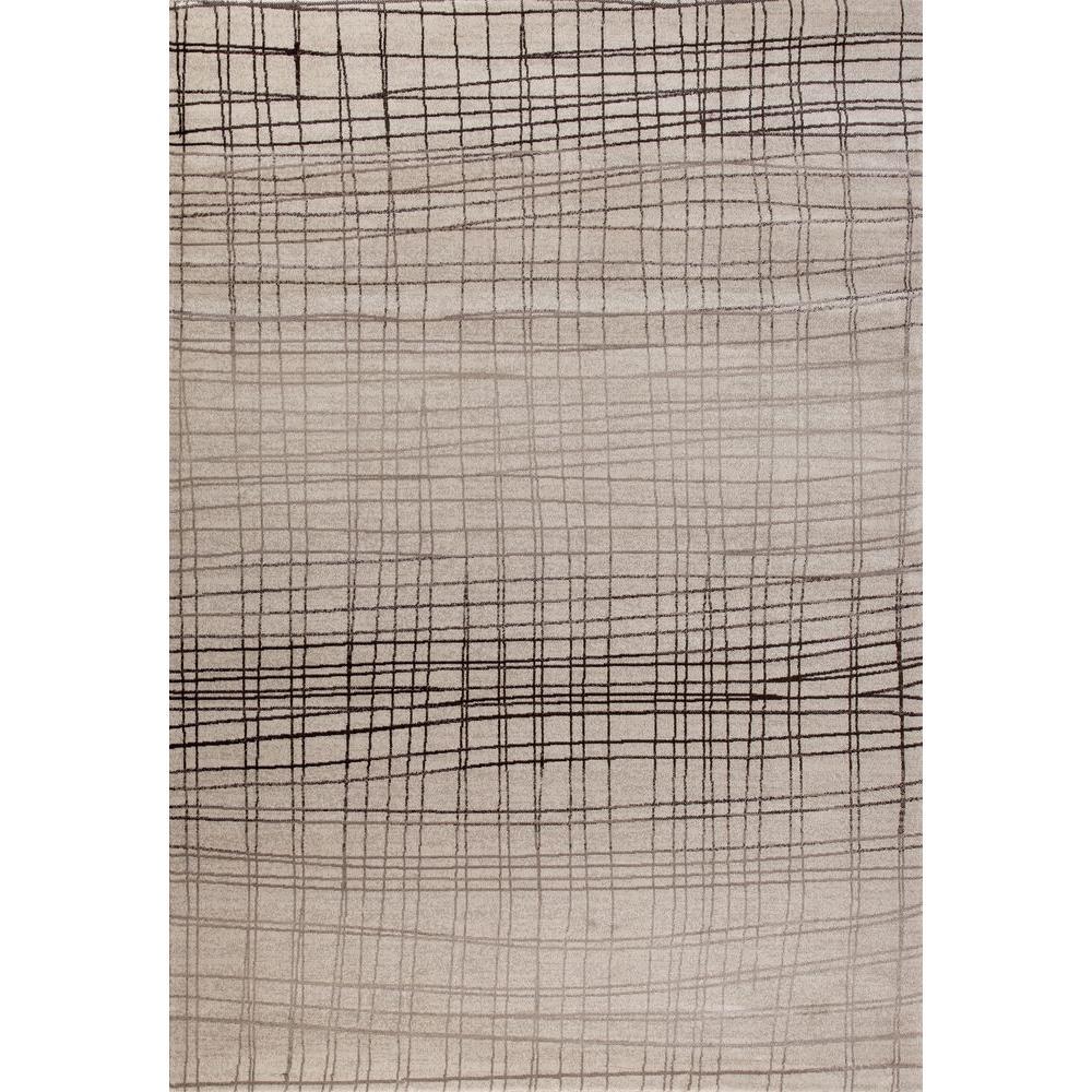 Dorsey Hall Geometric Stripes Beige 5 ft. 3 in. x 7 ft. 3 in. Indoor Area Rug