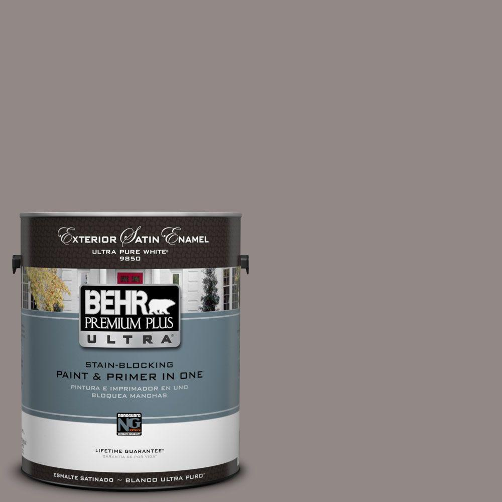 BEHR Premium Plus Ultra 1-Gal. #UL250-4 Polished Stone Satin Enamel Exterior Paint
