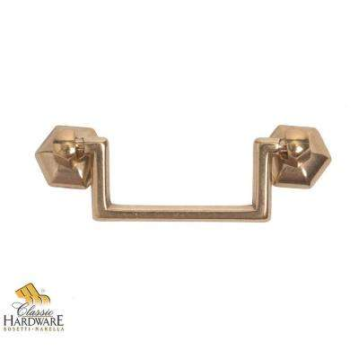 1800 Circa 3.07 in. Polished Brass Drop Pull