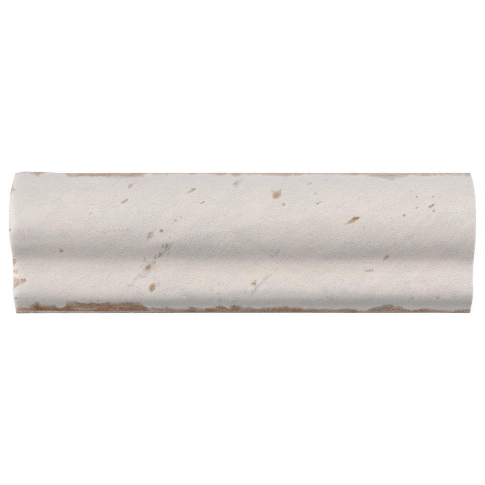 Artisan Blanco 2 in. x 6-1/2 in. Ceramic Moldura Wall Trim Tile