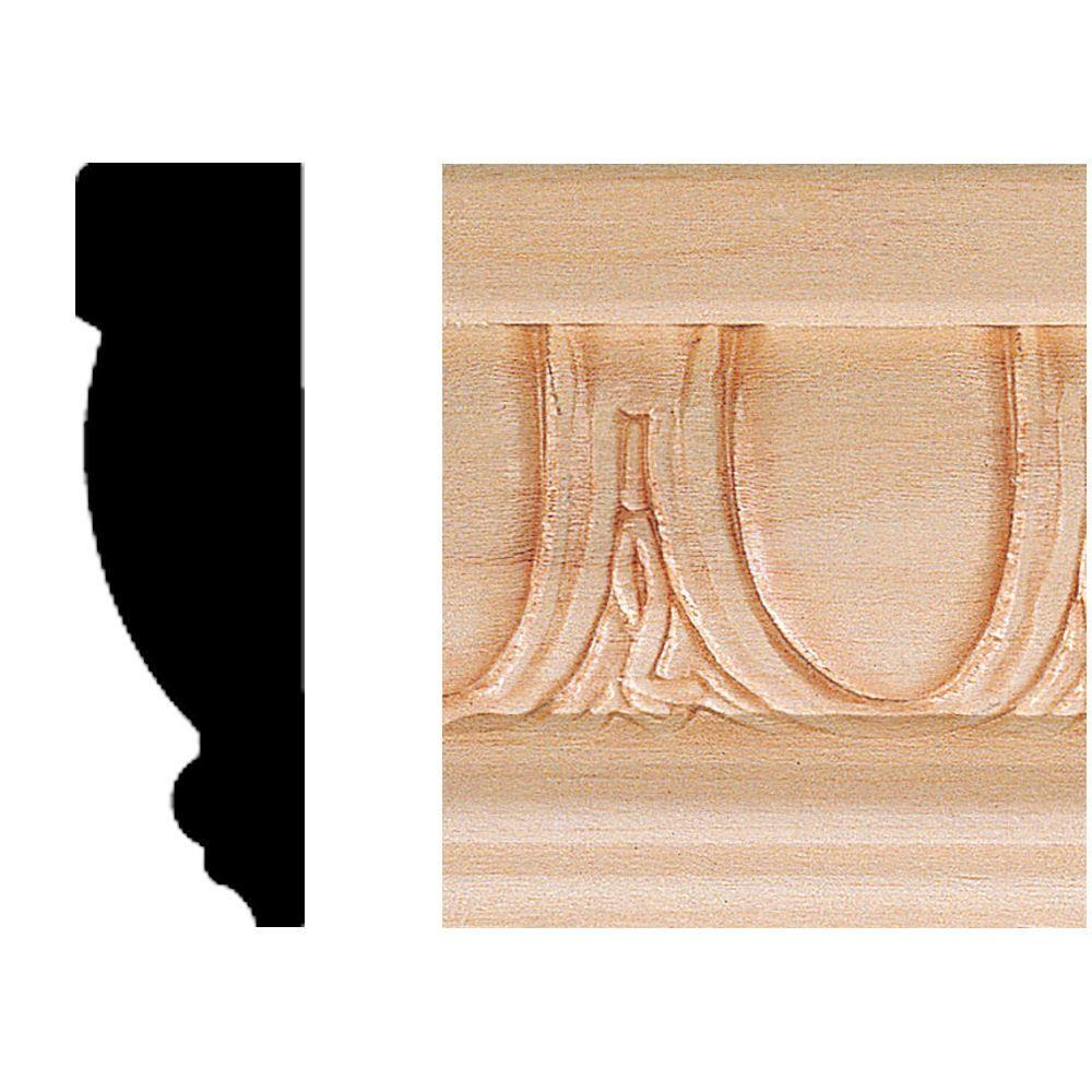 House Of Fara 3/4 In. X 2-1/2 In. Hardwood Emboss Casing