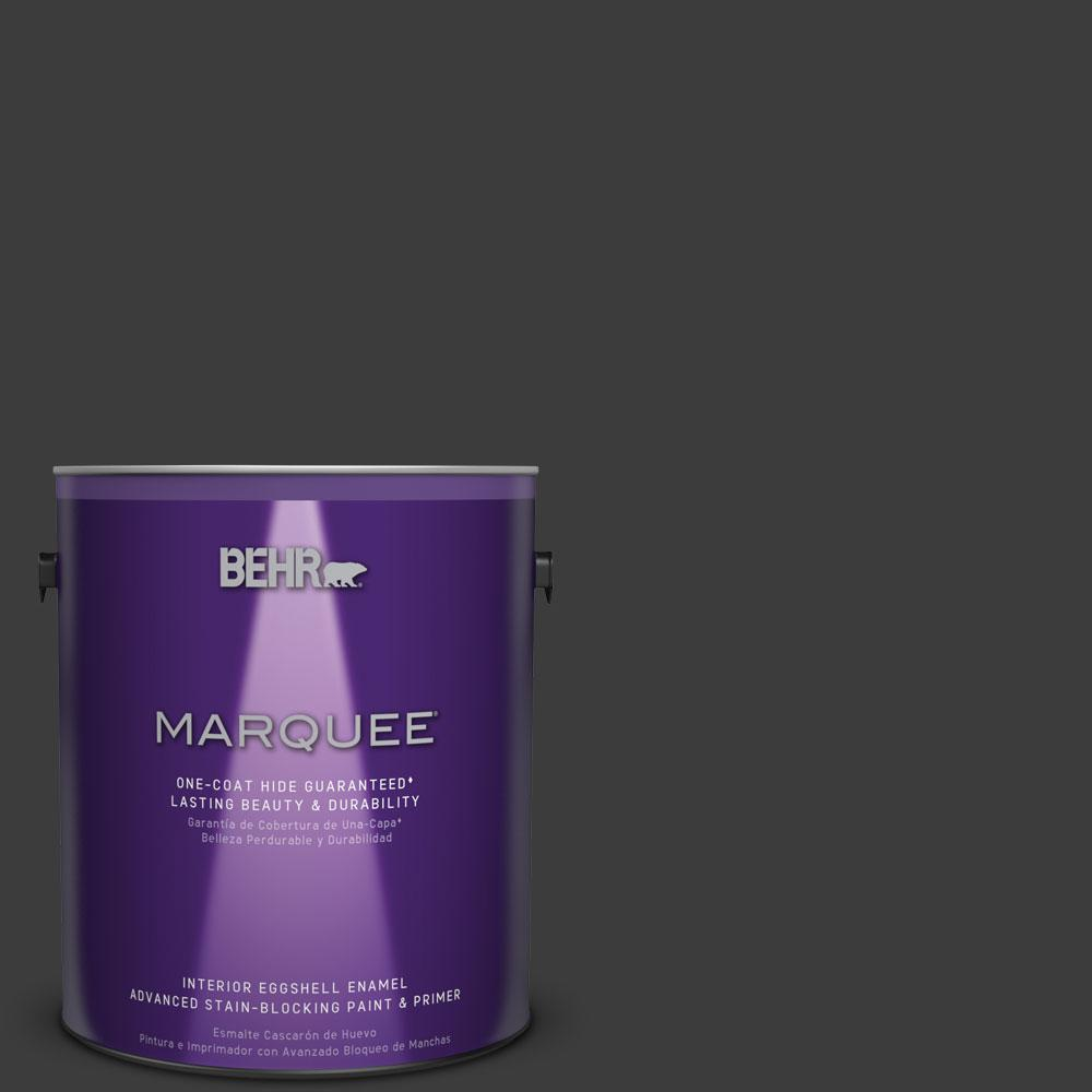 Behr Marquee 1 Gal Mq5 5 Limousine Leather Eggshell Enamel One Coat Hide Interior Paint And