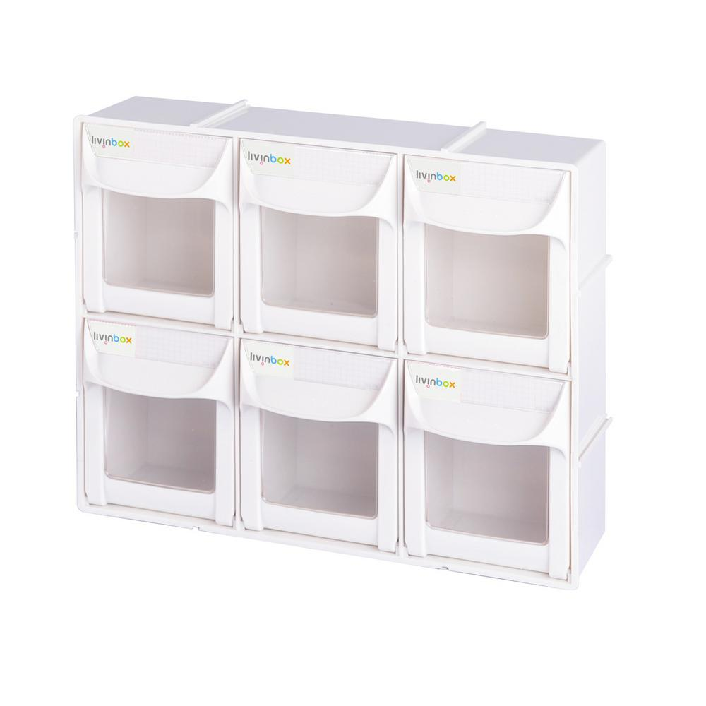 Patented Ultimate Tip Out Series 12 in. Crafts and Hardware Organizer