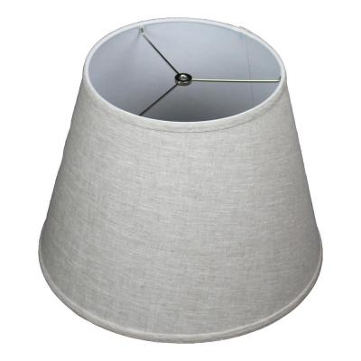 11 in. Top Diameter x 17 in. Bottom Diameter x 13 in. Slant Designer Linen Oatmeal Empire Lamp Shade