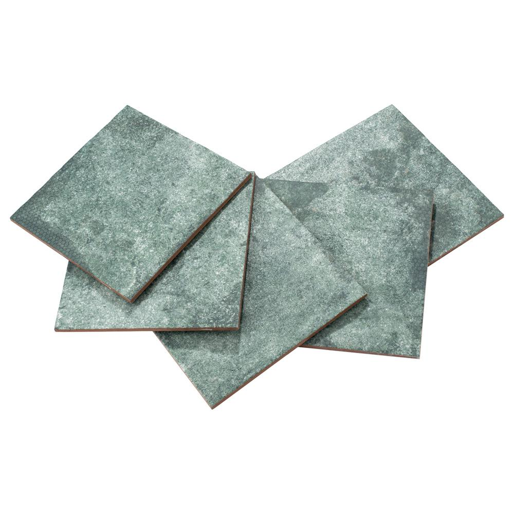 Merola Tile Mandala Sea Green 7-7/8 in. x 7-7/8 in. Ceramic Wall Tile (11.29 sq. ft. / case)