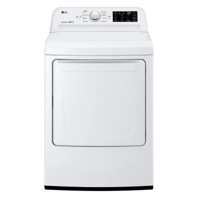 7.3 cu. ft. Ultra Large HE Front Load Electric Dryer with Sensor Dry and SmartDiagnosis in White, ENERGY STAR