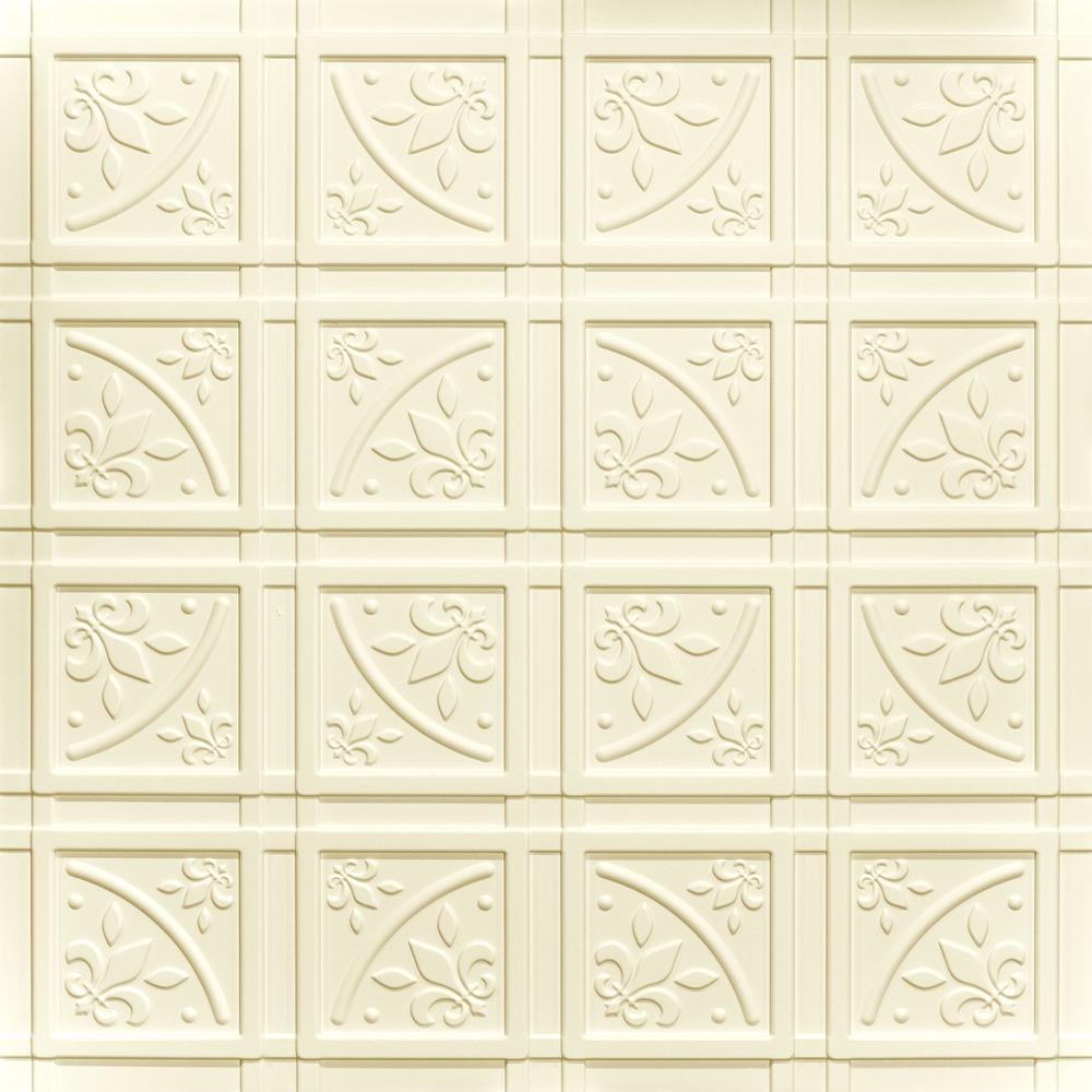 Lafayette Sand 2 ft. x 2 ft. Glue-up Ceiling Tile and Backsplash Kit