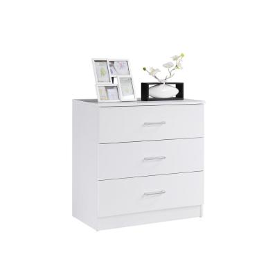 3-Drawer Chest in White