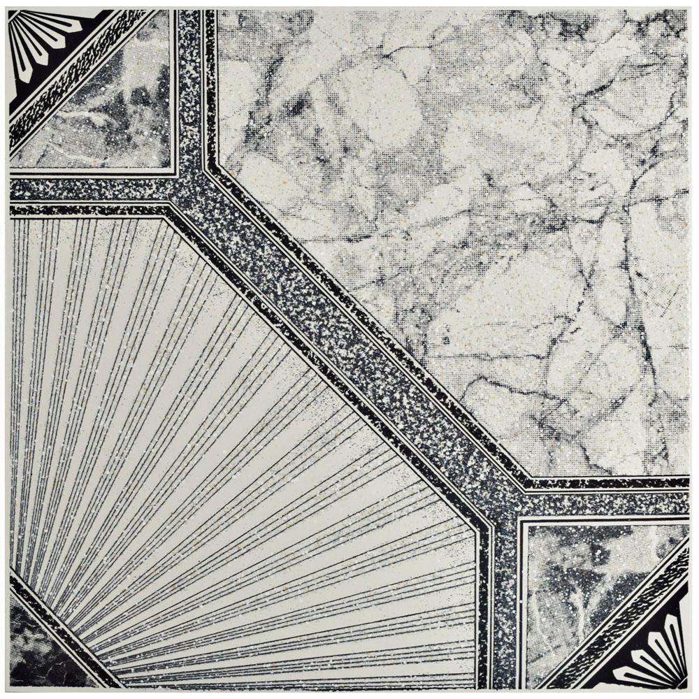 Estelar Nero 12-1/2 in. x 12-1/2 in. Ceramic Floor and Wall Tile (11.29 sq. ft. / case)