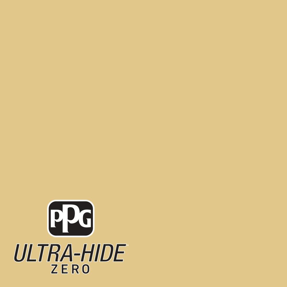 1-gal. #HDPY33D Ultra-Hide Zero Lions Dance Gold Satin Interior Paint