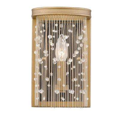 Marilyn 1-Light Peruvian Gold and Crystal Sconce
