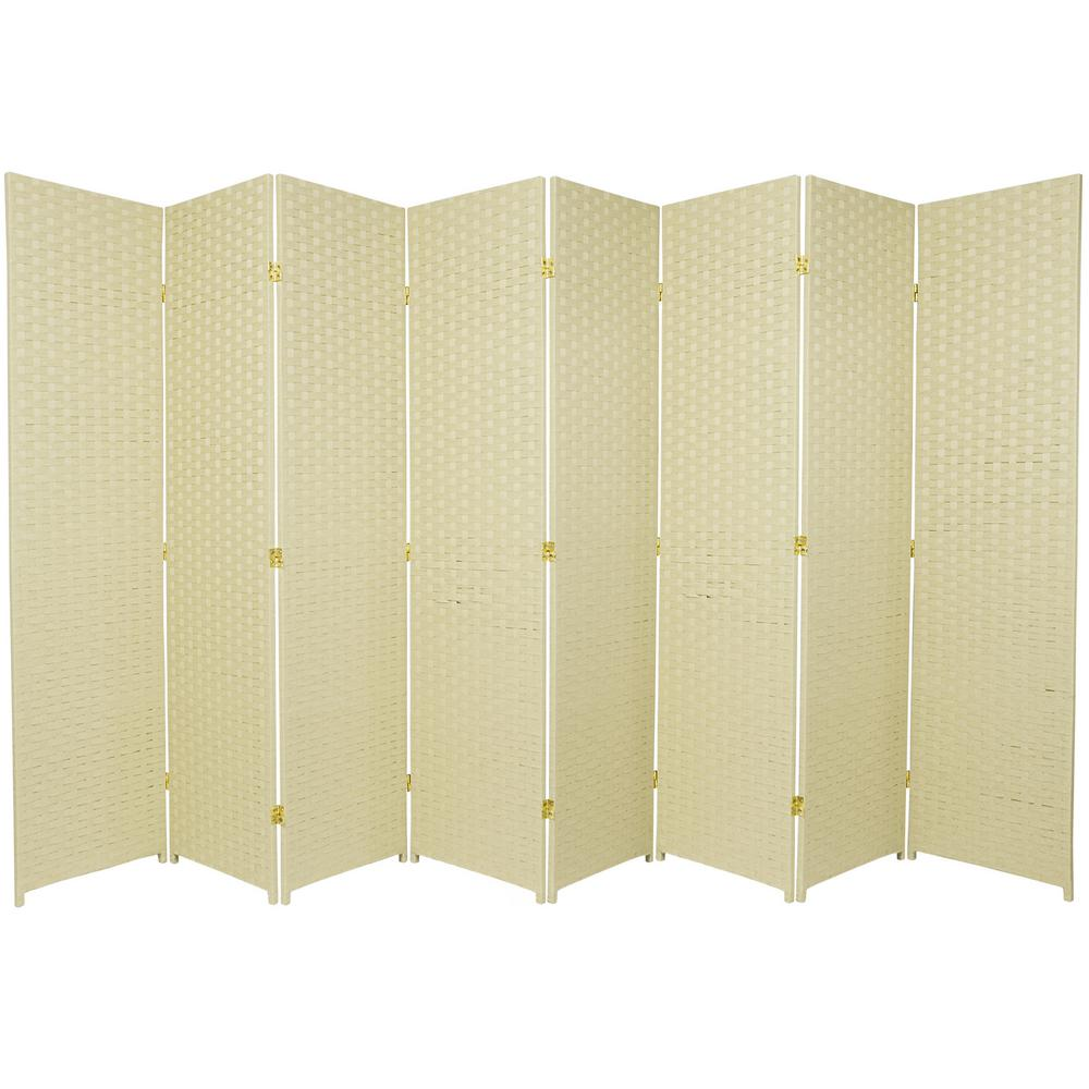 Cream 8 Panel Room Divider