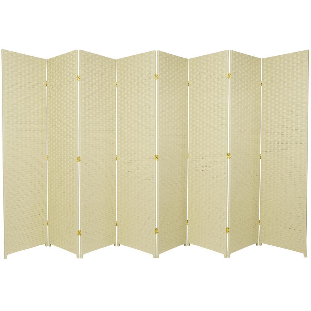 Cream 8 Panel Room Divider Ssfiber 8p Crm The Home Depot