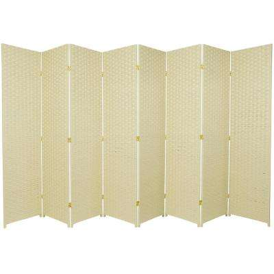 6 ft. Cream 8-Panel Room Divider