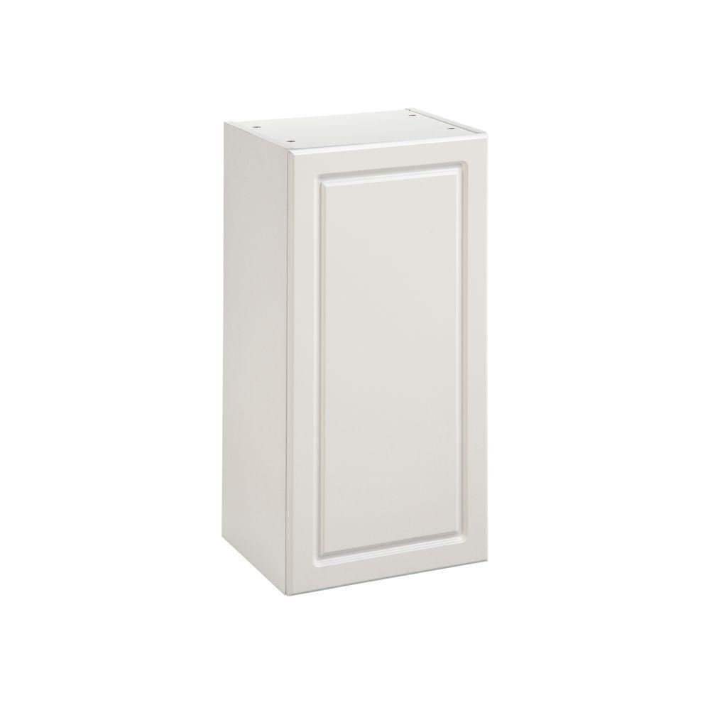 Heartland Cabinetry Heartland Ready to Assemble 15x29.8x12.5 in. Wall Cabinet with 1 Door in White
