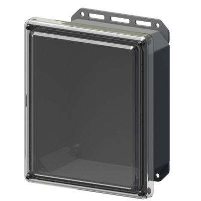 11.8 in. L x 10 in. W x 5.5 in. H Polycarbonate Clear Screw Top Cabinet Enclosure with Gray Bottom