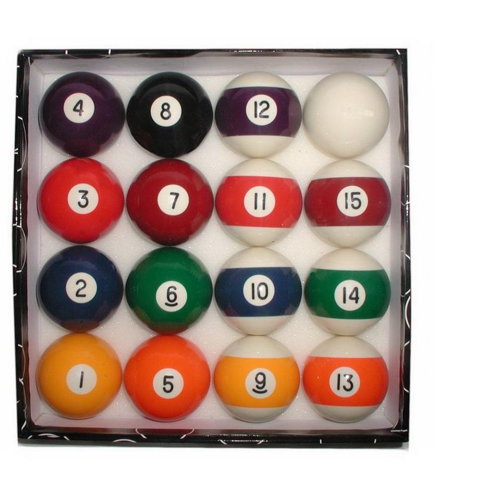 Trademark Deluxe Billiard Pool Balls SetDeluxeBalls The Home Depot - Billiard pool table supplies