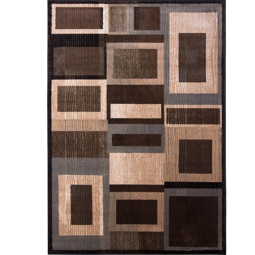 Bazaar Gal Black Brown 5 Ft X 7 Indoor Area Rug