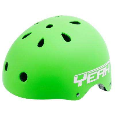 Matte Green Black Freestyle Helmet L (58-61 cm)